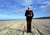 Pat Passman, returns to Utah Beach for the first time in 40 years