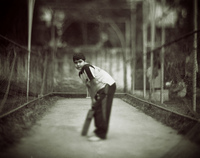 A cricket kid, Dhaka, Bangladesh