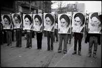 Ayatollah Khomeini posters were present at every anti-Shah rally.