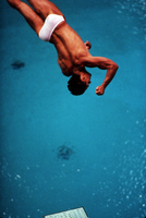 Greg Louganis, the day after he hit his head on the board.