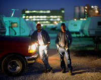 Two workers at the Dominion Sugar plant, living in company sponsored trailers.