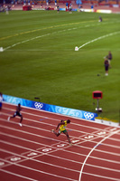 Usain Bolt, wins the 200m