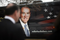 Mike Huckabee & bus, Iowa