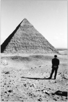 Egyptian President Anwar Sadat, at his home near the pyramids, Cairo 1977