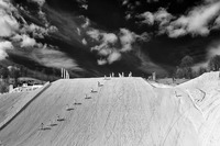 Grooming the slopestyle hill. ©2014 David Burnett/IOC