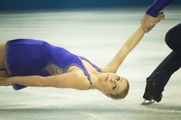 Ukraine Pairs team, short program. ©2014 David Burnett/IOC
