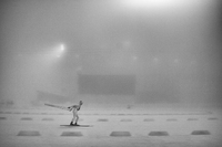 Fog rolls into the Biathlon track  ©2014 David Burnett/IOC