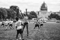 Touch football is a regular on the Mall