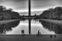 The reflecting pool, looking towards the Washington Monument