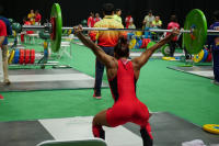 Women's Weightlifter from Mauritius