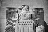 Eagle sculpture at the US Memorial  Chateau Thierry, France