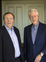 Author James Patterson and President Bill Clinton, collaborators in a new White House mystery.
