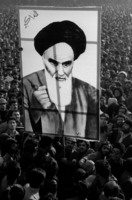 The Ayatollah's picture is ever present at the ongoing demonstrations.